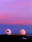 Keck Telescope Posters - Keck I And Ii Observatories On Mauna Kea, Hawaii Poster by David Nunuk