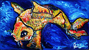 Jon Baldwin Art Paintings - Koi Fish  by Jon Baldwin  Art