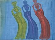 Featured Tapestries - Textiles Metal Prints - 3 Ladies Metal Print by Christine  Davis