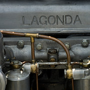 Lagonda Prints - Lagonda Old Car Print by Jorgen Norgaard