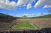 Green Photo Framed Prints - Lambeau Field  Framed Print by Steve Sturgill