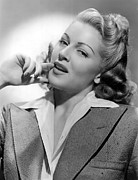 Contemplating Framed Prints - Lana Turner, Mgm, 1940s Framed Print by Everett