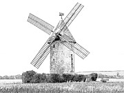 Europe Drawings - Largny Mill Largny sur Automne France by Joseph Hendrix