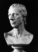 Portrait Sculpture Photograph Framed Prints - Laurence Sterne (1713-1768) Framed Print by Granger
