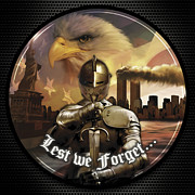 September 11 Wtc Digital Art Metal Prints - Lest We Forget Metal Print by Dale Jackson
