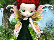 Puck Digital Art Posters - Lil Fairy Princess Poster by Alexander Butler