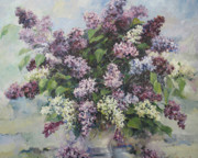 Girlfriend Paintings - Lilacs by Tigran Ghulyan