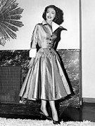 Full Skirt Metal Prints - Loretta Young Show, Loretta Young Metal Print by Everett