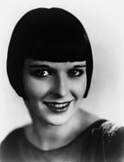 1920s Hairstyles Framed Prints - Louise Brooks, Ca. Late 1920s Framed Print by Everett