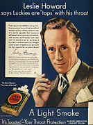 Luckys Framed Prints - Lucky Strike Cigarette Ad Framed Print by Granger