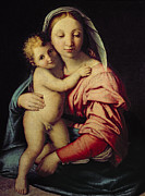 Mary Holding The Christ Prints - Madonna and Child Print by Il Sassoferrato