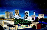 Constellations Painting Prints - Magic City Lights Print by Scott Pelham