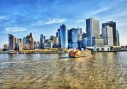 Silhouettes Metal Prints - Manhattan Metal Print by Svetlana Sewell