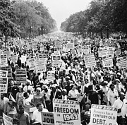 Civil Rights Movement Prints - March On Washington. 1963 Print by Granger