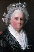 Martha Washington Framed Prints - Martha Washington, American Patriot Framed Print by Photo Researchers