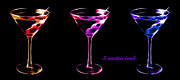 Drinks Digital Art - 3 Martini Lunch by Wingsdomain Art and Photography