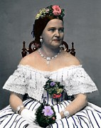 First Ladies Photo Framed Prints - Mary Todd Lincoln 1818-1882, Wife Framed Print by Everett