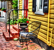 Annapolis Maryland Posters - Mellow Yellow Poster by Debbi Granruth