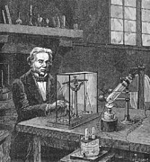 Physics Photos - Michael Faraday (1791-1867) by Granger