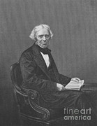 Michael Photo Framed Prints - Michael Faraday, English Physicist Framed Print by Science Source