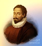 Famous Novel Framed Prints - Miguel De Cervantes, Spanish Author Framed Print by Photo Researchers