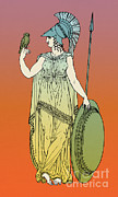 Owl Of Minerva Posters - Minerva, Roman Goddess Of Medicine Poster by Photo Researchers