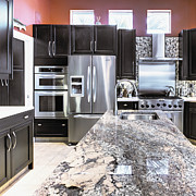 Marble Art - Modern Kitchen Interior by Skip Nall