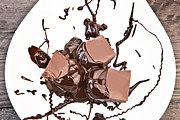 Chocolate Chips Prints - Molten Chocolate Print by Joana Kruse