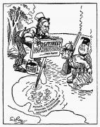 Doctrine Prints - Monroe Doctrine Cartoon Print by Granger