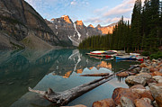 Canadian Rockies Framed Prints - Moraine Lake Framed Print by Bernard Chen