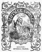 Mother Goose Posters - Mother Goose, 1833 Poster by Granger