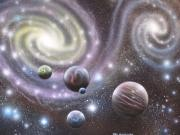 Cosmology Painting Prints - mULTIVERSE 223 Print by Sam Del Russi