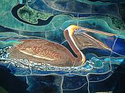 Still Life Ceramics - Mural at the Aquarium of the Pacific - detail by Theodora Kurkchiev