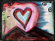 Family Love Pastels - My Heart as the Sun  by Levi Glassrock