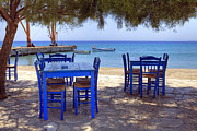 Restaurant Prints - Naxos - Cyclades - Greece Print by Joana Kruse
