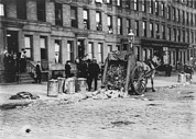 New York City Police Photos - New York City, Garbage Collectors by Everett