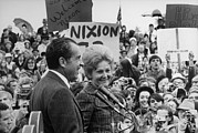 First Lady Photo Framed Prints - Nixon 1972 Re-election Campaign Framed Print by Everett