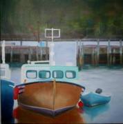 Nova Drawings - Nova Scotia Boats by Brenda Everett