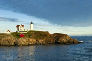 Nubble Lighthouse Metal Prints - Nubble Light Metal Print by John Greim