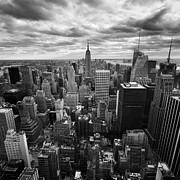 Ny Photo Posters - NYC Empire Poster by Nina Papiorek