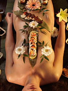 Erotica Prints - Nyotaimori Body Sushi Print by Oleksiy Maksymenko