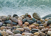 Red Rock Photo Metal Prints - Ocean Stones Metal Print by Stylianos Kleanthous
