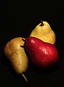 Pears Digital Art Framed Prints - 3 of a Pear Framed Print by David Taylor