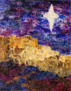 Star Of Bethlehem Painting Prints - Oh Bethlehem Print by Deborah Gall