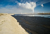 Oil Slick Photo Posters - Oil Industry Pollution Poster by David Nunuk