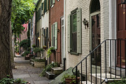 Townhouse Prints - Old City Philadelphia Print by John Greim