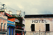 Colorful Buildings Prints - Old San Juan Puerto Rico Print by Kim Fearheiley