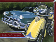 Classic Automobile Prints - Old Schoolin Print by Lucretia Torva
