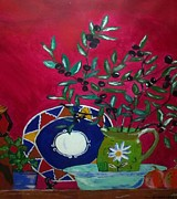 Olive Oil Originals - Olives by Julie Butterworth
