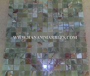 Stones Glass Art - Onyx Mosaic by Hanam Marble Industries
